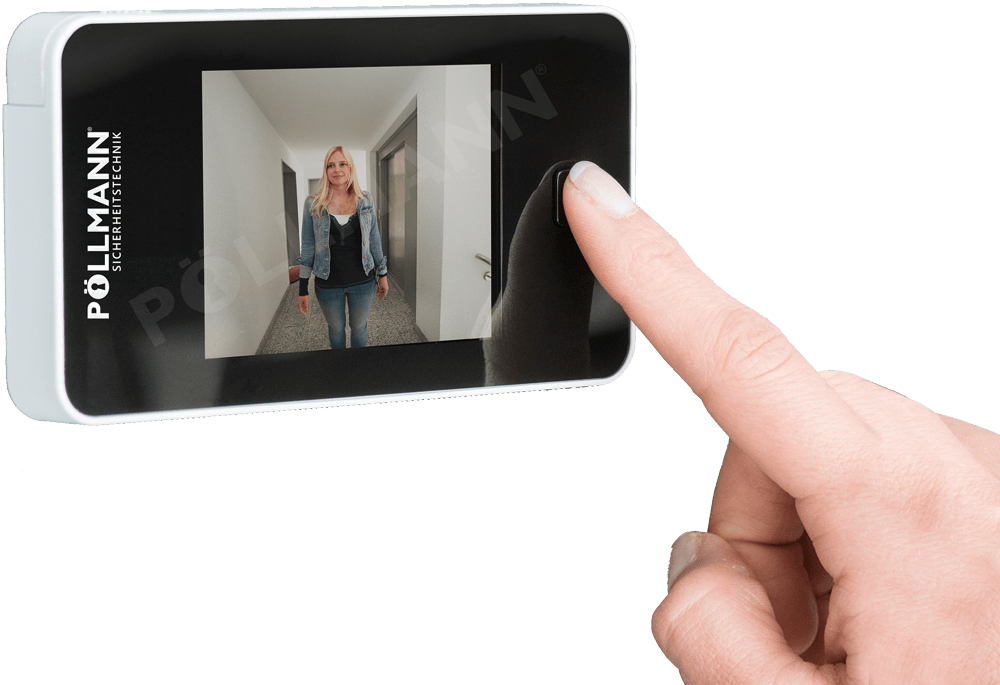 Digitaler Türspion in Anwendung