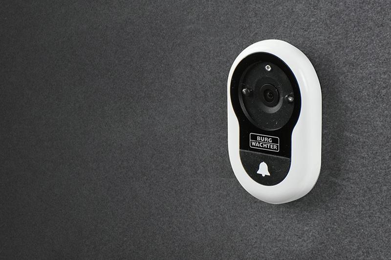 Außenansicht: Digitaler Türspion DG8200 (Version mit Klingel & Aufzeichnung)