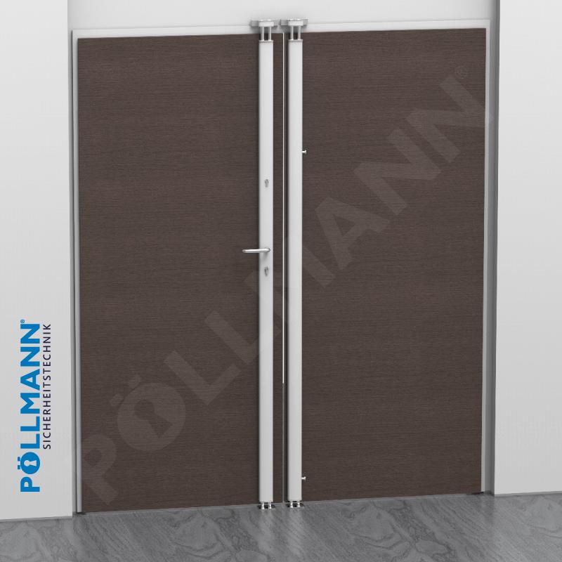 Vertikal-Stangenschloss, Beispiel geschlossene Tür