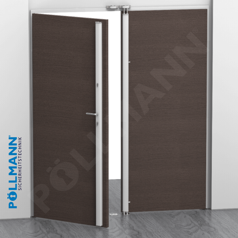 Vertikal-Stangenschloss, Beispiel offene Tür