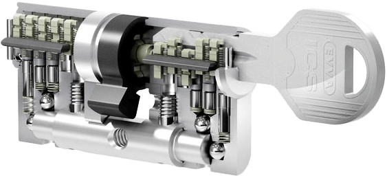 Schließsystem EVVA ICS Schnittzylinder