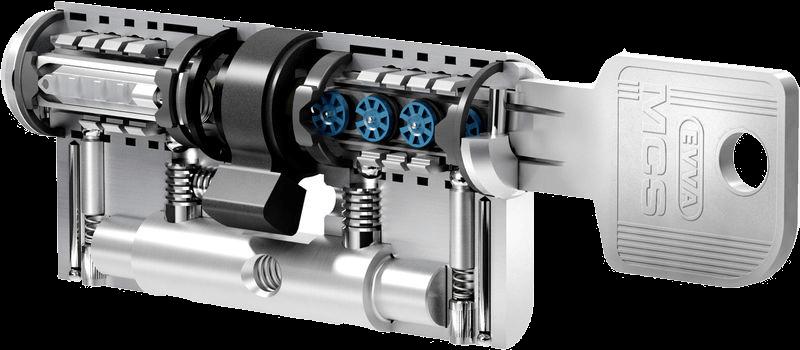 Schließsystem EVVA MCS Schnittzylinder